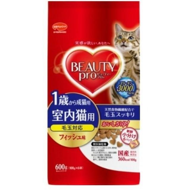 【お一人様1個限り特価】日本ペットフード ビューティープロ キャット 成猫用 1歳から 100g×6袋入