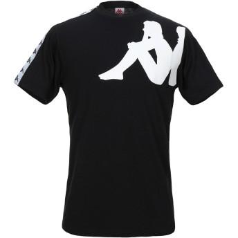 《セール開催中》KAPPA メンズ T シャツ ブラック M コットン 100%