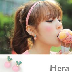 Hera 赫拉 果凍色球球耳夾/耳針(1對入)
