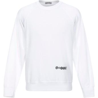 《セール開催中》DANIELE ALESSANDRINI HOMME メンズ スウェットシャツ ホワイト XL コットン 80% / ポリエステル 20%