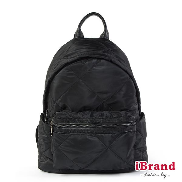 iBrand後背包 輕盈尼龍空氣包媽媽包後背包-黑色 TYH-T02