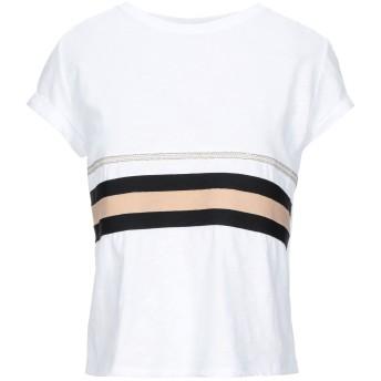 《セール開催中》KORALLINE レディース T シャツ ホワイト 40 コットン 90% / ポリウレタン 10%