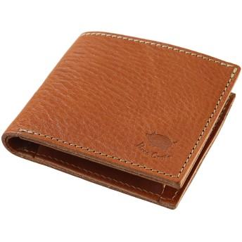 [PORCO ROSSO] 2つ折り財布 オリジナル栃木レザー 日本製 本革 (キャメル)