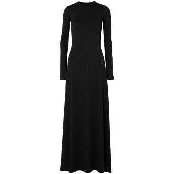 《セール開催中》MICHAEL LO SORDO レディース ロングワンピース&ドレス ブラック 8 ポリエステル 93% / ポリウレタン 7%