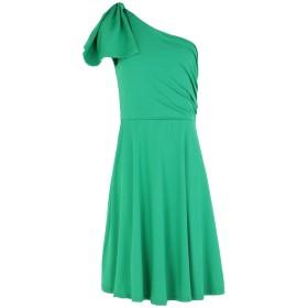 《セール開催中》WILD PONY レディース ミニワンピース&ドレス グリーン S ポリエステル 95% / ポリウレタン 5%