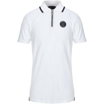 《セール開催中》PLEIN SPORT メンズ ポロシャツ ホワイト M コットン 96% / ポリウレタン 4%