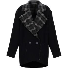 《セール開催中》MANILA GRACE レディース コート ブラック 42 ウール 67% / ポリエステル 20% / ナイロン 10% / 指定外繊維 3%