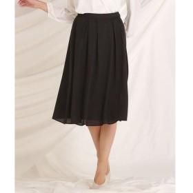 LAUTREAMONT / ロートレアモン 光沢感のあるタックフレアースカート