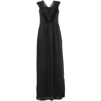 《セール開催中》RUE8ISQUIT レディース ロングワンピース&ドレス ブラック 40 ポリエステル 100%