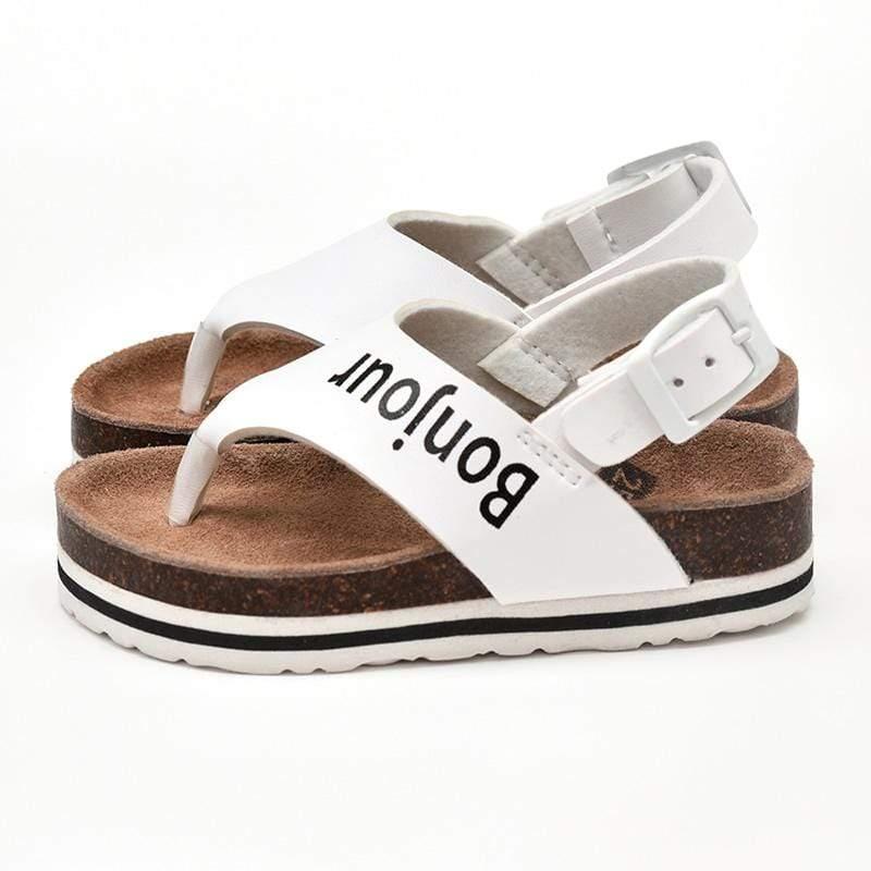 涼鞋-法國!你好(時尚白) EUR 24