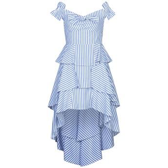 《セール開催中》OD OD レディース ミニワンピース&ドレス ブルー L コットン 100%