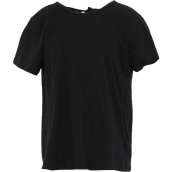 《セール開催中》SEMICOUTURE レディース T シャツ ブラック S ナイロン 100% / コットン