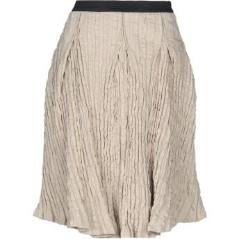 《セール開催中》COLLECTION PRIVE レディース ひざ丈スカート ベージュ 42 コットン 80% / ナイロン 18% / 金属化ポリエステル 2%