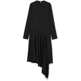 《セール開催中》16ARLINGTON レディース 7分丈ワンピース・ドレス ブラック 6 ポリエステル 91% / レーヨン 5% / ポリウレタン 4%