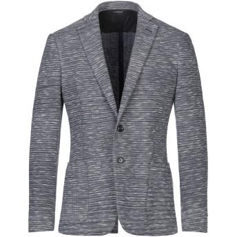 《セール開催中》TONELLO メンズ テーラードジャケット ダークブルー 46 コットン 49% / ポリエステル 31% / ナイロン 20%