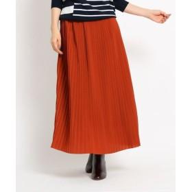 Dessin/デッサン 【Sサイズあり】ジョーゼットプリーツスカート ダークオレンジ(068) 01(S)