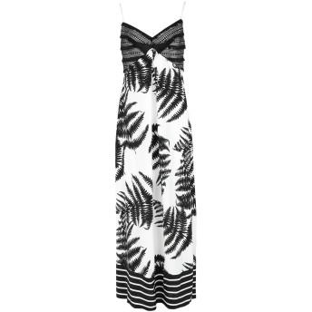 《セール開催中》CLIPS レディース ロングワンピース&ドレス ホワイト M レーヨン 100% / ポリエステル