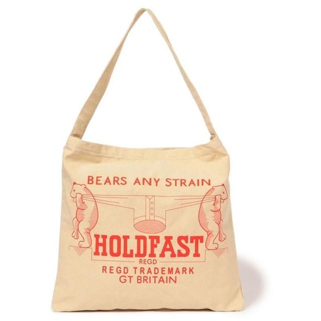 【リフラティ シップス】HOLD FAST:ロゴプリントバッグ