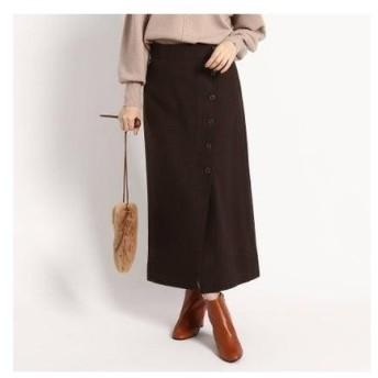 デッサン Dessin 【SLサイズあり】サキソニーボタンタイトスカート (ディープブラウン)