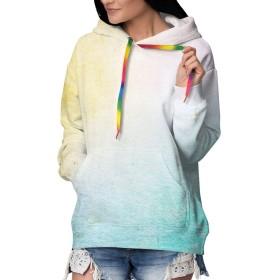グランジスタイルの抽象芸術の背景 パーカー 長袖 トレーナー 女性のセーター 付きフード レディース 裏起毛 パーカー