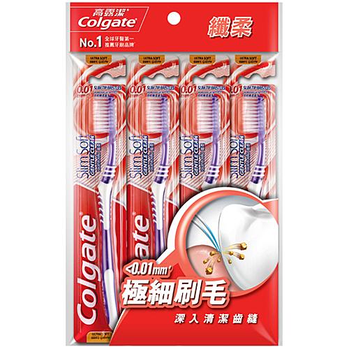 高露潔 纖柔溫和潔淨 超級軟毛 牙刷 4入