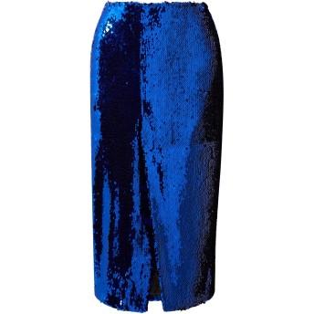 《セール開催中》SALLY LAPOINTE レディース 7分丈スカート ブルー 0 ポリエステル 100%