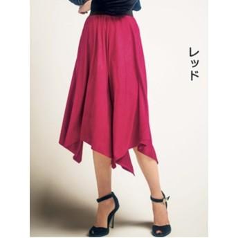 【大きいサイズレディース】【L-3L】柄ゴム使いイレヘムフェイクスエードスカート スカート その他スカート