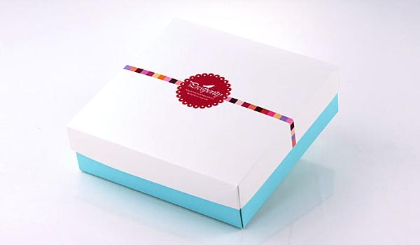 白色低盒 乳酪蛋糕盒 白蓋藍盒 蛋黃酥盒 中秋禮盒 綠豆椪盒 起司蛋糕盒【C011】
