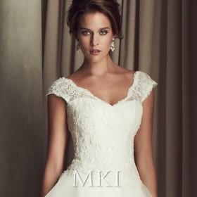 白 ホワイトXXS~4XL 二次会 バニエ付き ロングドレス パーティー 花嫁 結婚式 ウエディングドレス 2019新作 890