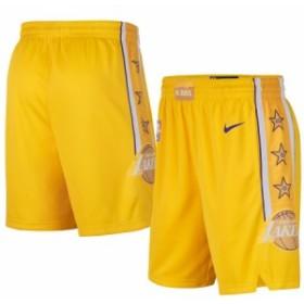"""ナイキ キッズ ハーフパンツ """"Los Angeles Lakers"""" レイカーズ Nike Youth 2019/20 City Edition Swingman Shorts バスパン ミニバス Gol"""