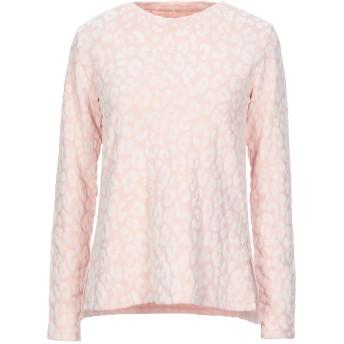 《セール開催中》MAJESTIC FILATURES レディース スウェットシャツ ピンク 1 レーヨン 96% / ポリウレタン 4%