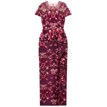 《セール開催中》MARCHESA NOTTE レディース ロングワンピース&ドレス パープル 2 ナイロン 100% / ポリエステル