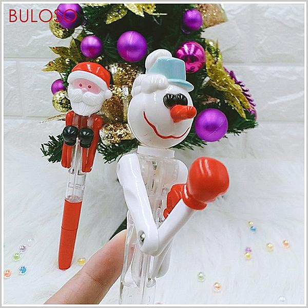 《不囉唆》聖誕拳擊造型筆 (不挑色/款) 原子筆 燈光筆 聖誕老人 雪人 文具【A432775】