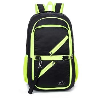ファッションメンズバックパック多機能防水ラップトップバッグ男旅行バッグブラック 40x22x23cm