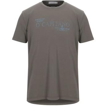 《セール開催中》COOPERATIVA PESCATORI POSILLIPO メンズ T シャツ ミリタリーグリーン XL コットン 94% / ポリウレタン 6%