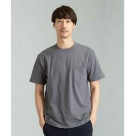green label relaxing/グリーンレーベル リラクシング 別注 [ヘインズ] Hanes SC BEEFY GLR ポケットTシャツ / ポケT DK. GRAY S