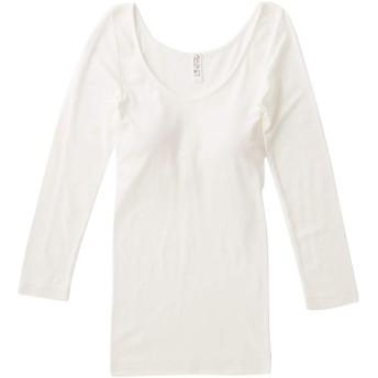 [スープレルース] Souple Luz ブラパット付き Tシャツ ノンワイヤー カップ付き インナー レディース 2020春夏 アンダーウエア SOG-TO-375 GIZ-TO-376 3(M~L) / off-white