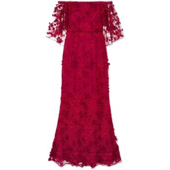 《セール開催中》MARCHESA NOTTE レディース ロングワンピース&ドレス ボルドー 4 ポリエステル 90% / レーヨン 10% / ナイロン