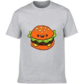 スタイリッシュ Single-sided Printing of Short-sleeved T-shirt tシャツ ハンバーガーはかわいい color37 XL