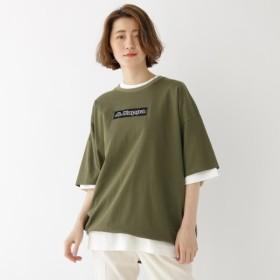 [マルイ] コラボ 別注 Kappa カッパ バックジップ 半袖 Tシャツ/ベース ステーション(レディス)(BASE STATION Ladies)