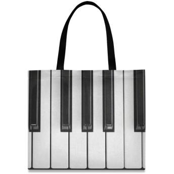 FengJu トートバッグ 大容量 レディース メンズ 軽量 カバン 通勤 通学 バッグ アウトドア 旅行 肩掛け 手揚げバッグ ハンドバッグ ピアノ