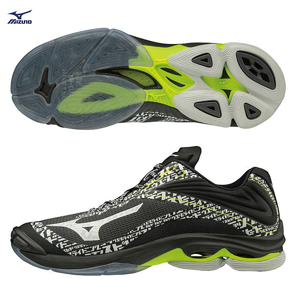 MIZUNO WAVE LIGHTNING Z6 男鞋 女鞋 排球 手球 包覆 避震 止滑 輕量 黑【運動世界】V1GA200198
