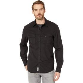 ラッキーブランド トップス シャツ Alameda Western Shirt Washed Bla メンズ [並行輸入品]