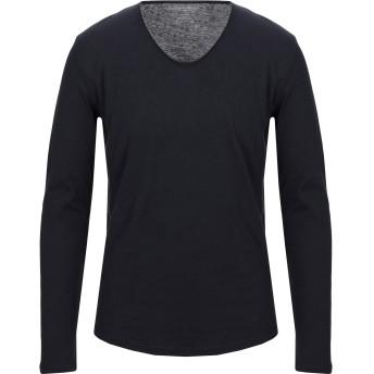 《セール開催中》MAJESTIC FILATURES メンズ T シャツ ダークブルー M コットン 85% / カシミヤ 15%
