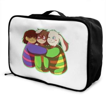 トロリーバッグ アンダーテール 旅行用トロリーバッグ トラベルバッグ キャリーオンバッグ 折りたたみ 固定バッグ 超軽量 ダッフルバッグ 大容量 出張 かばん 収納袋