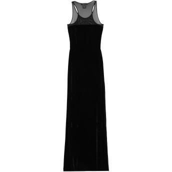 《セール開催中》FISICO レディース ロングワンピース&ドレス ブラック M ポリエステル 95% / ポリウレタン 5%