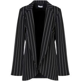 《セール開催中》RUBENDELLARICCIA レディース テーラードジャケット ブラック 46 ポリエステル 96% / ポリウレタン 4%