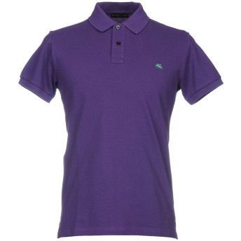 《セール開催中》ETRO メンズ ポロシャツ パープル S コットン 100%
