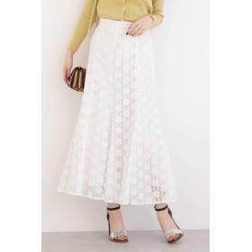 【公式/エヌ ナチュラルビューティーベーシック】レースマーメイドスカート/女性/スカート/オフ/サイズ:M/(外側)コットン 61% ナイロン 39%(内側)ポリエステル 100%