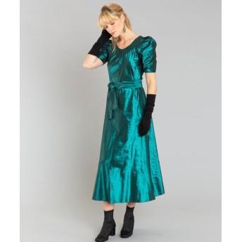 【50%OFF】 アニエスベー UAC8 ROBE ドレス レディース グリーン 38(M) 【agnes b.】 【セール開催中】